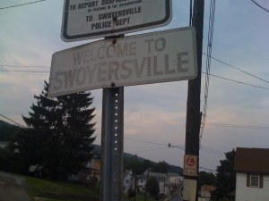 Swoyersville Pennsylvania Faded Street Sign