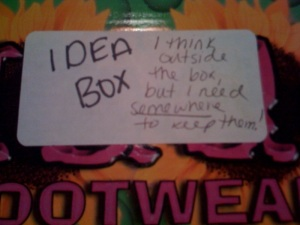 As you can see, I was always kinda corny from the tagline of my box. Uh, actually... that I gave my box a tagline scares me.