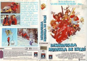 Spanish movie cover for Ski Patrol, courtesy of Teen Movies Espana who has the mother lode of screen shots. Now I find this, AFTER I write the blog. Ha.
