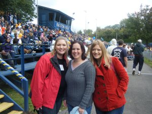 Tanner, Bonnie and I at Ralston Field on Homecoming Weekend, 2009