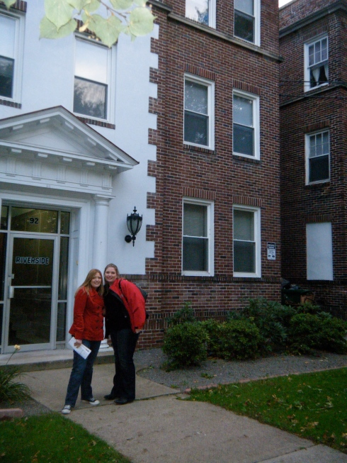 Tanner and me in front of our old college apartment in Wilkes-Barre. We lived there together a few years. I had left Wilkes but still lived there. After she graduated, I lived there another year with another college buddy. This apartment was where most of our crazy stories happened.