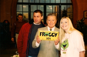 Mike, Regis, and Me in September 2001 on the set, after his show.