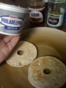 Philadelphia Cream Cheese and Tallarico Brand Sauce